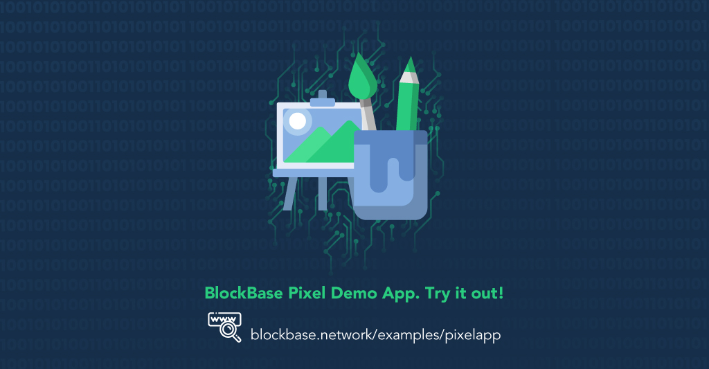 This is an image about the BlockBase releasing a simple pixel demo app